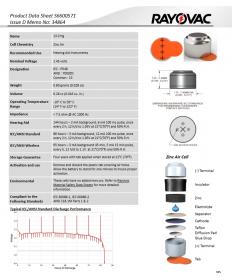 Батарейки для слуховых аппаратов Rayovac EXTRA 13 (6 шт)
