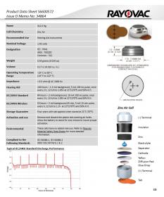 Батарейки для слухових апаратів Rayovac EXTRA 312 (6 шт)
